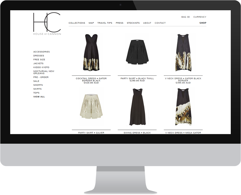 Fashion Website Design.