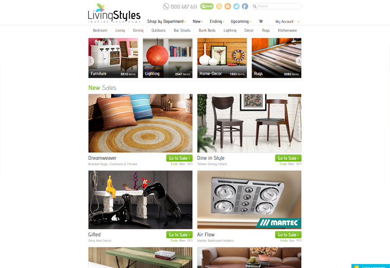 Living Styles Website Design