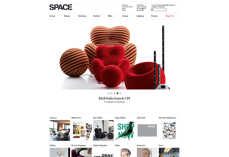 Space Website Design