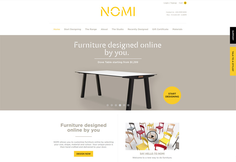 Nomi Website Design